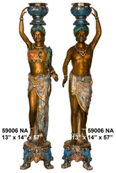 African Tribal Ancestors - Left and Right Pair - Special Patina, Style NA