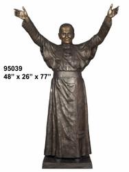 "77"" Bronze Statue of John Paul 2nd"