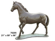 Life-size Bronze Walking Horse