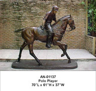 Polo Player Mounted on Pony - Final Sale