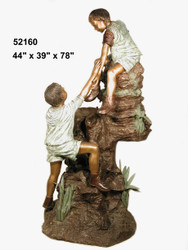 Kids Climbing a Rock Fountain - SALE!