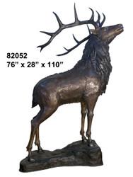 Baying Elk on Rock Ledge - #82052