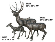 Bronze Deer Family - 84067-71