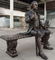 Custom-designed Monumental George Washington Sculpture
