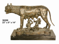 Romulus - Remus - with Marble Base - SALE!
