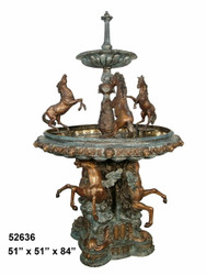 "84"" Tiered Fountain - Equine Theme"