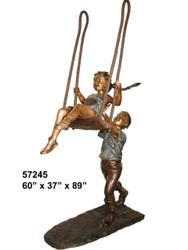 "Boy Pushing a Girl on a Swing - 89"" Design"