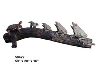 Frogs & Turtles on a Log