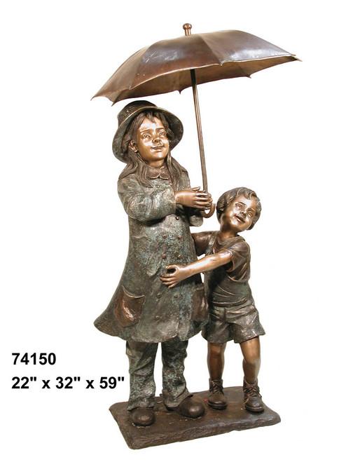 Girl & Boy Under Umbrella, Spillover Umbrella