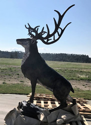 "106"" Red Stag on Rock Ledge - SALE! - Extra 25% Off - discount applied at checkout"