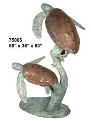 Pair of Sea Turtles Swimming