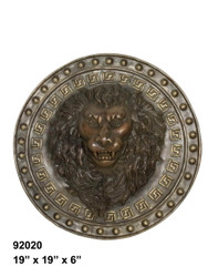 Lion's Face Plate Fountain (Pair)