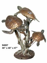 "3 Sea Turtles Swimming - 47"" Design"