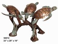 Table bottom - 3 Sea Turtles