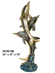 3 Dolphins Fountain - Special Patina, Style NB