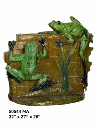 2 Frogs Climbing a Wall - Special Patina, Style NA