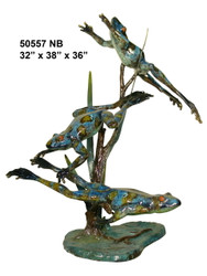 3 Frogs Swimming - Special Patina, Style NB