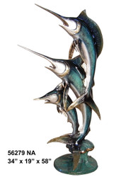 "Swordfish Family - 58"" Design - Special Patina, Style NA"