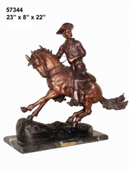 "Remington design, ""Cowboy"" - with Marble Base"