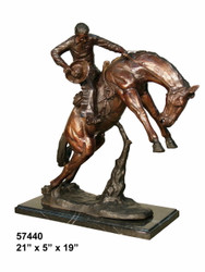 "Remington design, ""Bucking Bronco"" - with Marble Base"