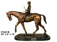 "Remington design, ""Equestrian Rider"" - with Marble Base"
