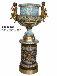 Large Urn with Cherub Handles - Special Patina, Style NA