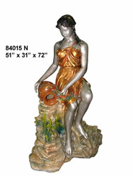 Maiden With a Water Pitcher, Rock Formation Base - Special Patina, Style N