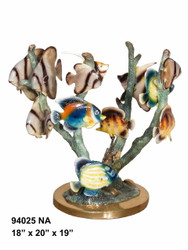 Table bottom - Tropical Fish Theme - Special Patina, Style NA