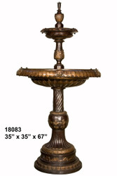 "Tiered Fountain - 67"" Design, Elegant Features"