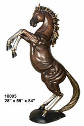 "84"" Rearing Stallion"