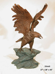 "Eagle Landing on a Rock Ledge - 43"" Design"