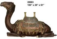 """Resting Camel with Ornate Saddle - 100"""" Design"""