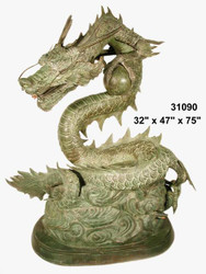"Dragon Fountain with Ball - 75"" Design"