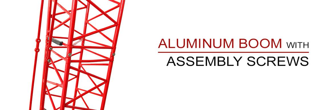 All aluminum boom