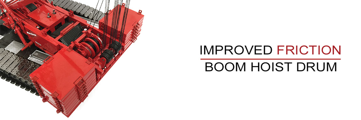 Boom Hoist Drum Friction vastly improved