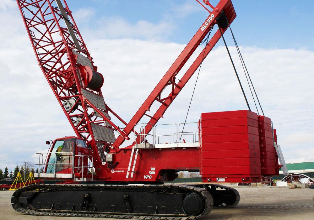 Manitowoc MLC300 crawler crane with VPC