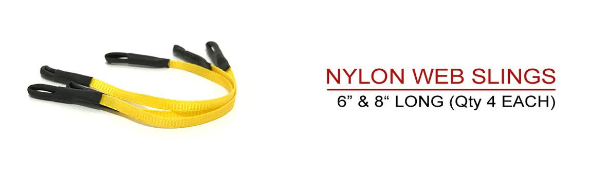 Includes 8 Nylon Web Slings