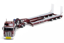 1:50 diecast scale model of Kenworth K200 with Drake 2x8 Dolly & Drake 3x8 Swingwing Low Loader-Vintage Burgundy