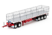 1:50 diecast scale model of MaxiTRANS Freighter Road Train Set in White and Red