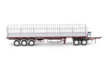 1:50 diecast scale model of MaxiTRANS Freighter Road Train Set - Vintage Burgundy