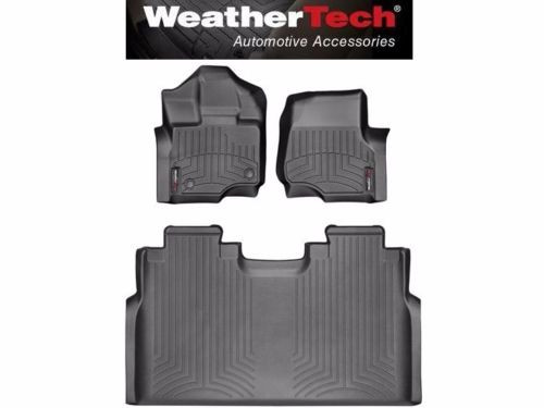 Weathertech Digitalfit Floor Mats   Ford F  Supercrew Front Rear New