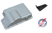 FORD F-150 SVT LIGHTNING PML DEEP TRANSMISSION COOLING PAN,  FILTER, Gasket and HARDWARE E4OD4R100