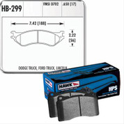 HAWK HB299Z.650 PERFORMANCE HPS STREET FRONT BRAKE PADS 99-04 FORD  SVT LIGHTNING  02-03 HARLEY SUPERCHARGED