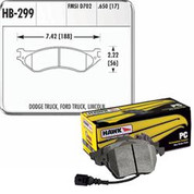 HAWK HB299Z.650 PERFORMANCE CERAMIC FRONT BRAKE PADS   99-04 FORD SVT LIGHTNING 02-03 HARLEY SUPERCHARGED