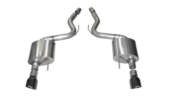 2005-10 MUSTANG CORSA SPORT AXLE BACK EXHAUST - BLACK TIPS  Brand:CORSA Performance  Manufacturer's Part Number:14311BLK  Part Type:Exhaust Systems  Product Line:Corsa Sport Exhaust Systems  Part Number:CSE-14311BLK   UPC:847466011108