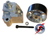 2003-04 Ford SVT MUSTANG COBRA 4.6 SUPERCHARG​ED AUXILLARY 100mm IDLER PULLEY KIT  pulley hard coated black billet dust cove REDUCE SLIP