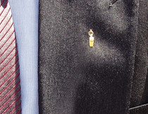Gold Whistle Lapel Pin