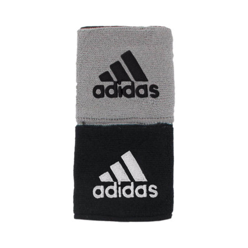 Adidas Interval Reversible Wristbands (Black/Gray Pair)