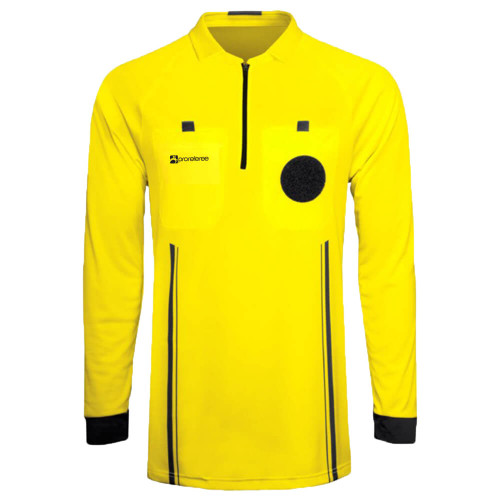 Soccer Referee Jersey Long Sleeve (Yellow)