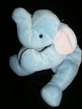 """TY  ~  ELEPHANT * 14""""  PILLOW PAL For Baby"""